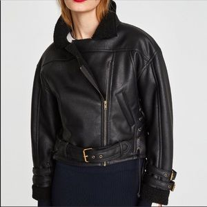 Zara Faux Leather Jacket Size XS NEW